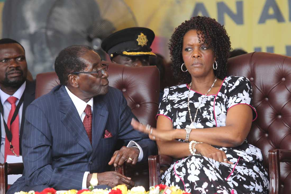 Robert Mugabe och hustrun Grace.