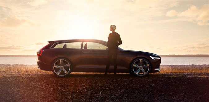 Concept Estate – den tredje bilen i koncept-serien och en bil som ger en liten hint om hur en kommande V90 kan se ut.