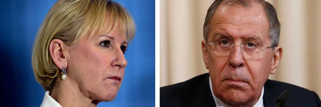 Den svenska utrikesministern Margot Wallström träffar sin ryska motsvarighet Sergej Lavrov senare i månaden.
