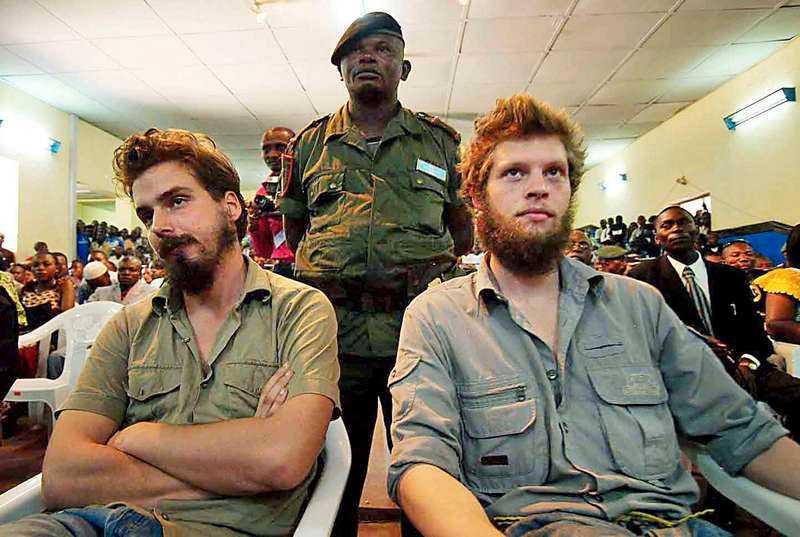 Norrmännen Tjostolv Moland (till vänster) och Joshua French (till höger) dömdes till döden för mord. Nu är Tjostolv Moland död.