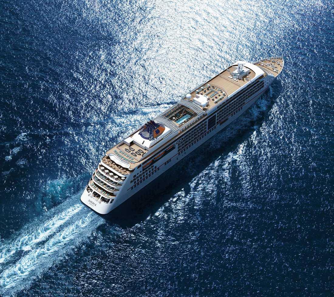 1. EUROPA 2 (1860 poäng) Det femstjärniga fartyget hade premiär i maj 2013 och har redan hunnit segla till över 40 länder. 225 meter lång, max 516 gäster.