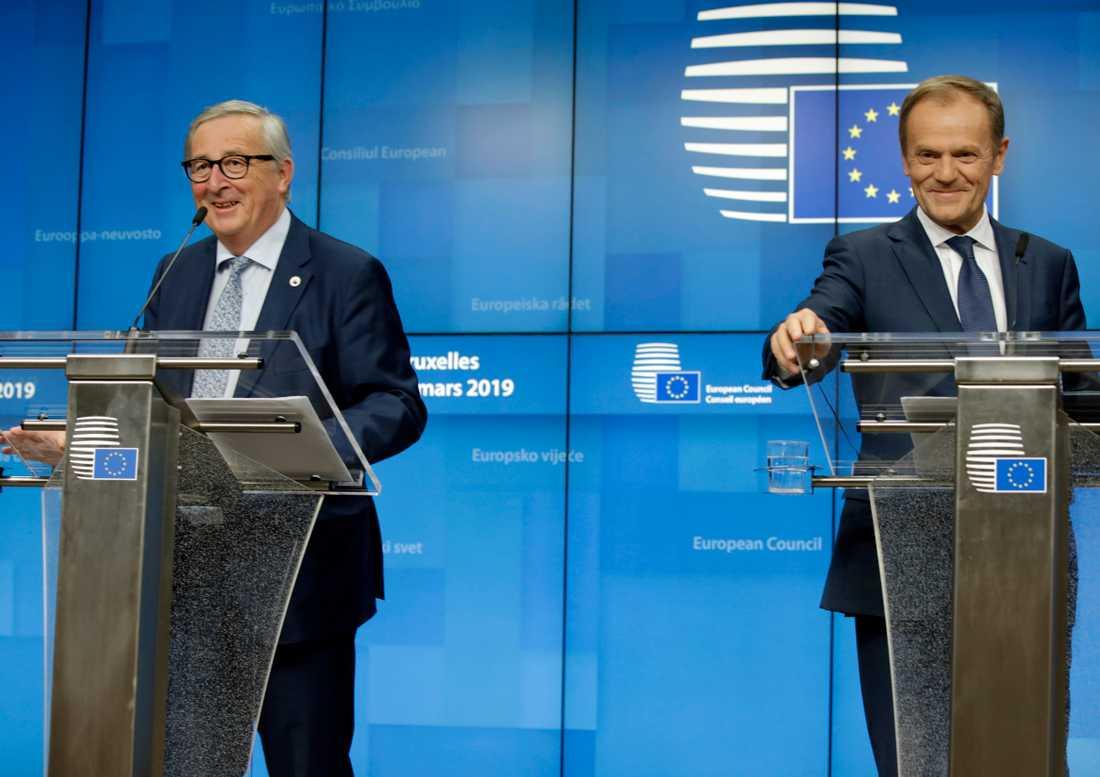 Europeiska kommissionens ordförande Jean-Claude Juncker och Europeiska rådets ordförande Donald Tusk.