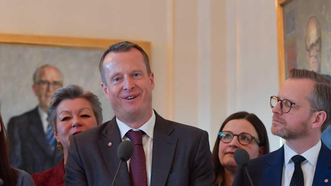 """""""Jag vill jobba för att Sverige blir starkare, smartare och grönare"""", säger nygamle S-ministern Anders Ygeman."""