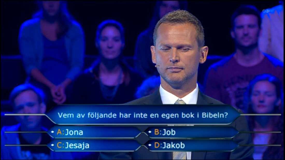 Rickard Sjöberg sneglar på frågan som inte går att svara rätt på.