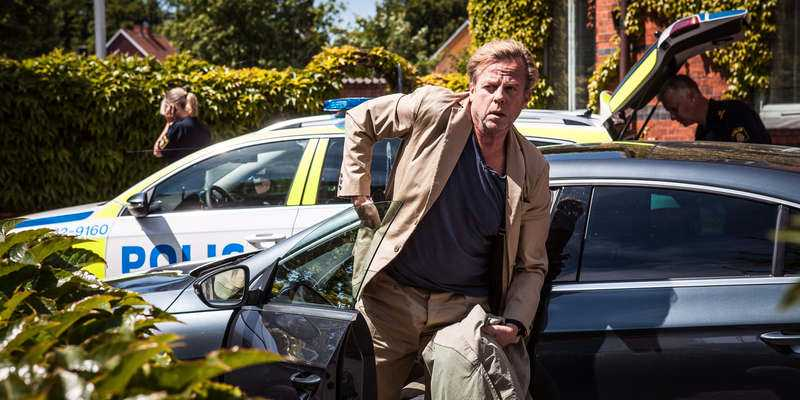 Krister Henriksson i rollen som kommissarie Kurt Wallander.
