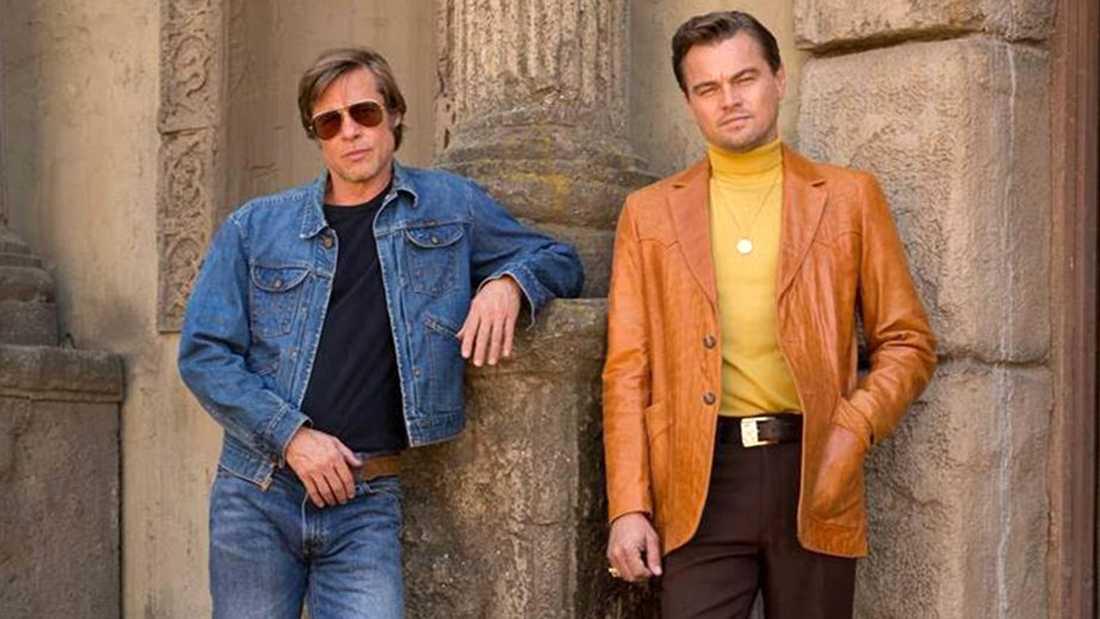 Brad Pitt och Leonardo DiCaprio i Tarantinos film.