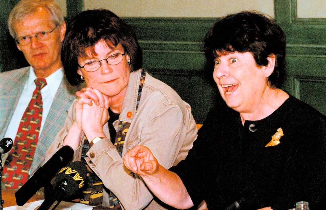Pensionspresentation Bosse Ringholm, Maj-Inger Klingvall och Margit Gennser presenterade det nya pensionssystemet på en presskonferens 24 juni 1999. Dagens debattörer går till angrepp mot argumenten som anfördes för att skrota ATP-systemet.
