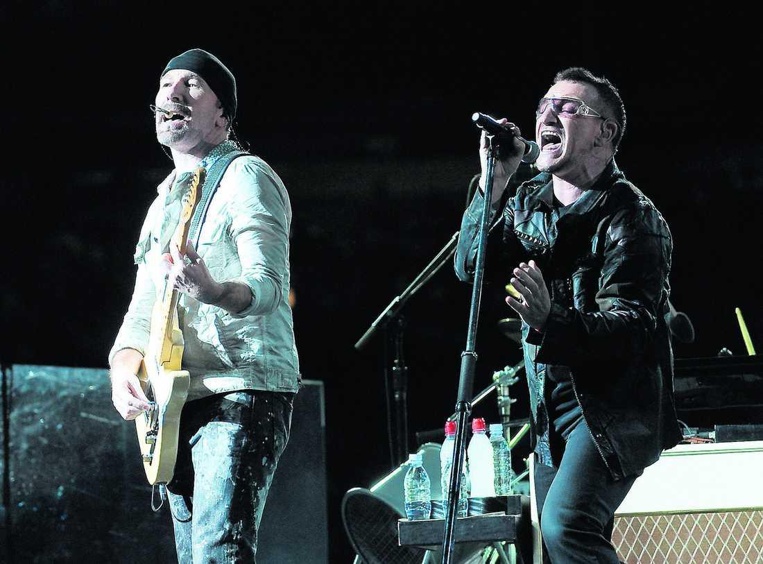 """The Edge och Bono har skrivit musiken och låtarna till musikalen """"Spider-man: Turn off the dark""""."""