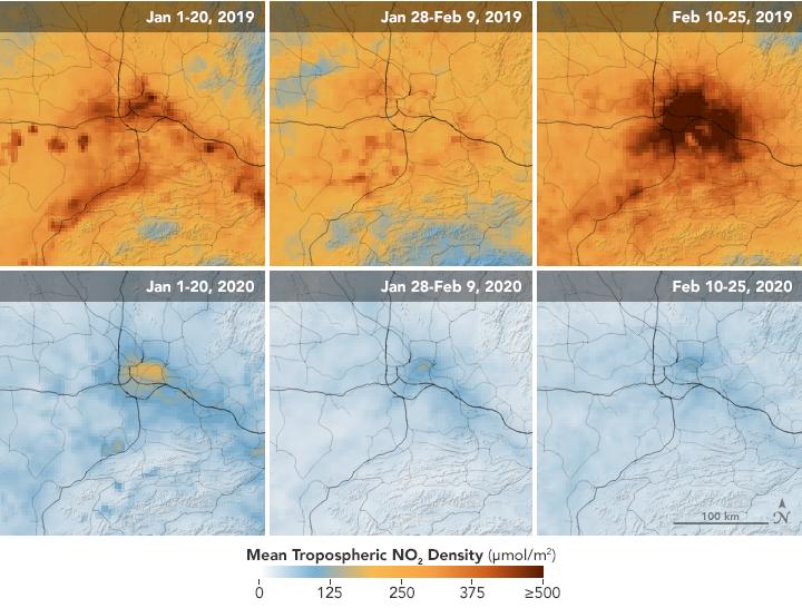 Satellitbilderna från Nasa.