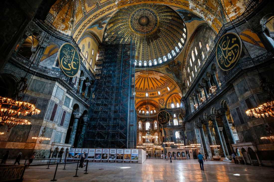Den bysantiska katedralen Hagia Sofia ska omvandlas till moské. Arkivbild