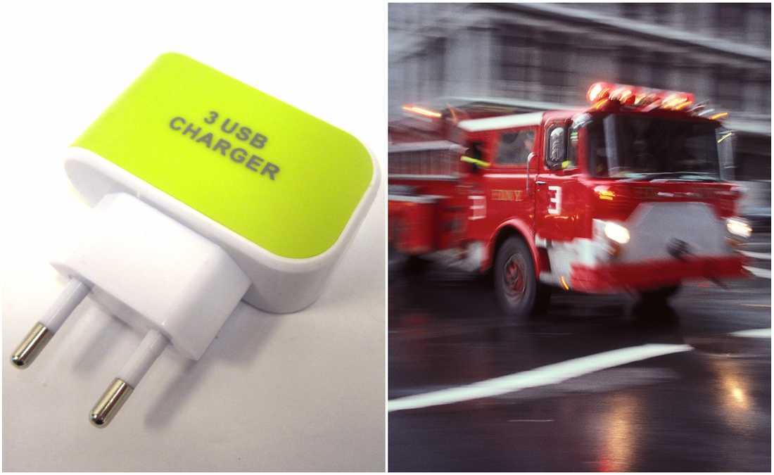 Många usb-laddare orsakar bränder.