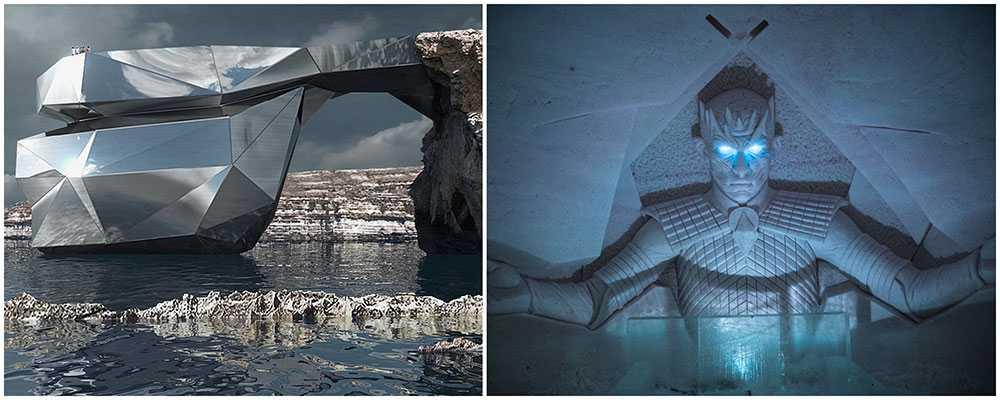 Snart kan Malta får en gigantisk stålbro. På Lapland Hotels SnowVillage kan du sova bland white walkers and andra karaktärer från GOT.