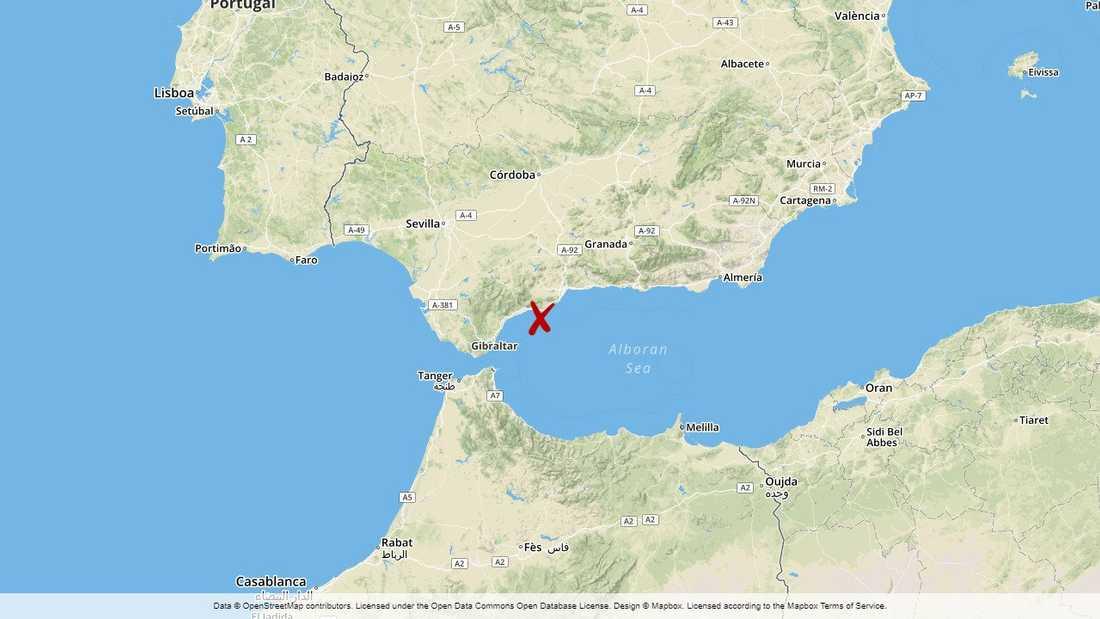 Jakten ägde rum strax sydväst om Malaga, på den spanska solkusten.