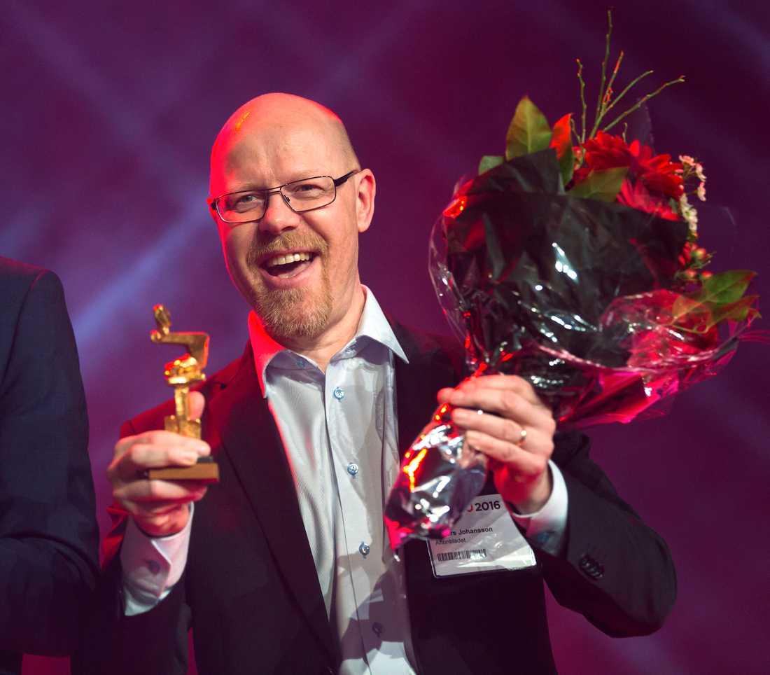 Aftonbladets Anders Johansson får Guldspaden för sin grävpodd #Fallet.
