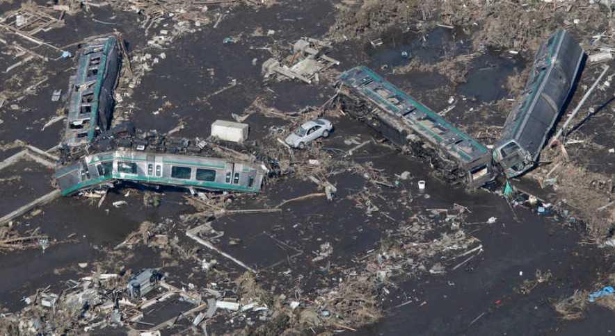 Ett av de saknade tågen hittades i dag. Det var totalförstört.