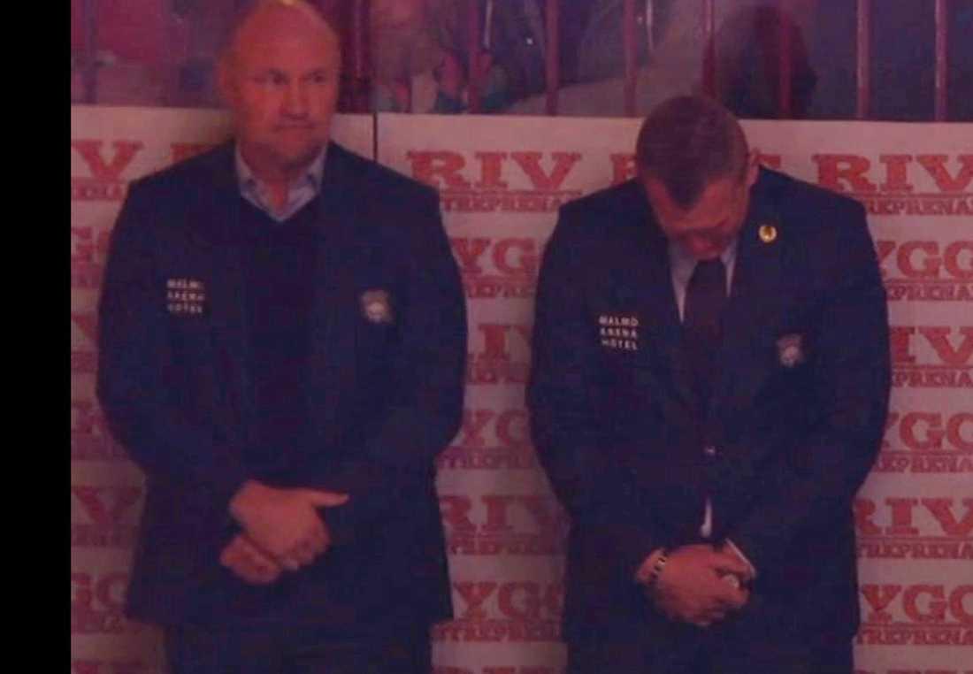 Jesper Mattsson i tårar när sonen Oliver hedrades.