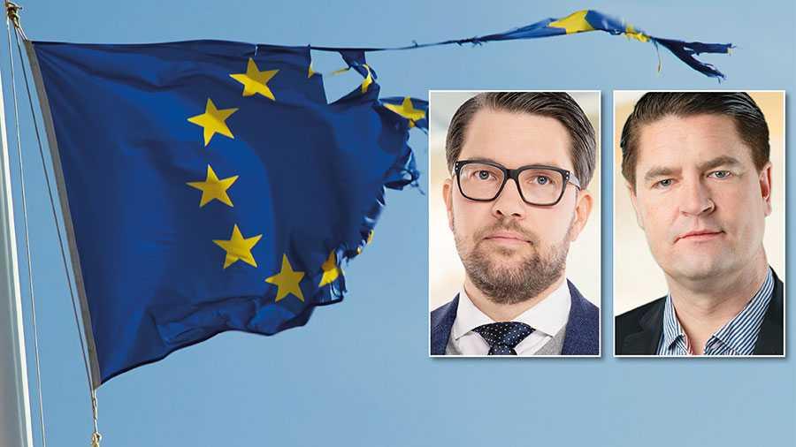Den 24 mars kommer svenska politiker med S i spetsen försöka rösta igenom EU:s stora skuldpaket som innebär att Sverige ska betala 150 miljarder kronor. Det är ett ekonomiskt och politiskt vansinne, både av praktiska och moraliska skäl, skriver Jimmie Åkesson och Oscar Sjöstedt.