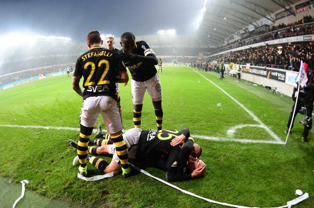 Robin Jansson gjorde 1–0 för AIK i den avgörande matchen i Allsvenskan mot Kalmar FF.