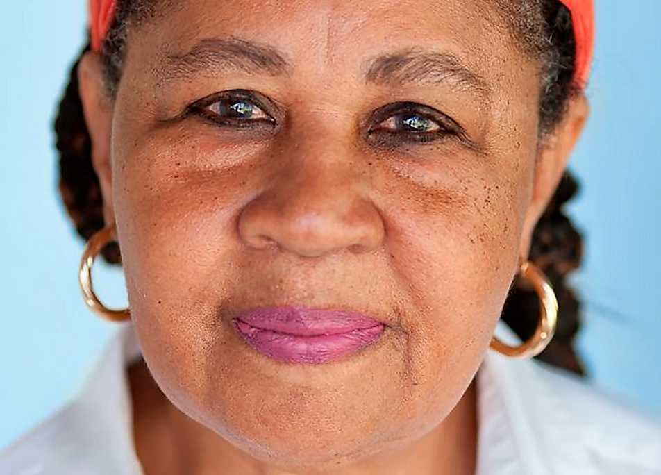 Författaren Jamaica Kincaid (född 1949).
