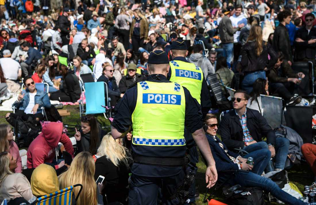 Stadsparken i Lund igår under valborgsfirandet.