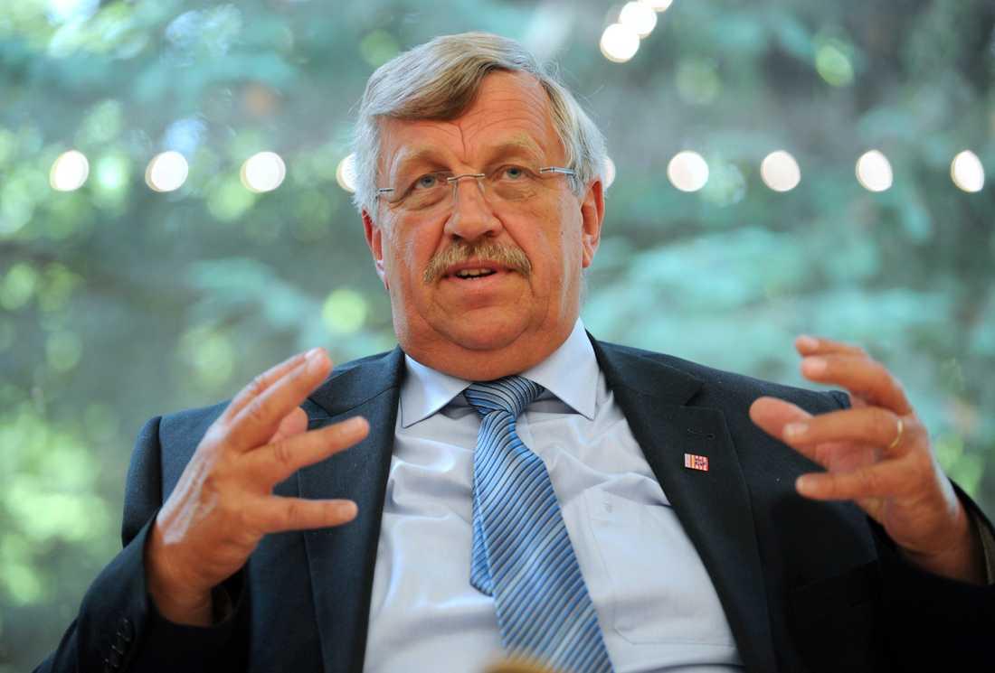 Walter Lübcke vid en presskonferens 2012. Arkivbild.