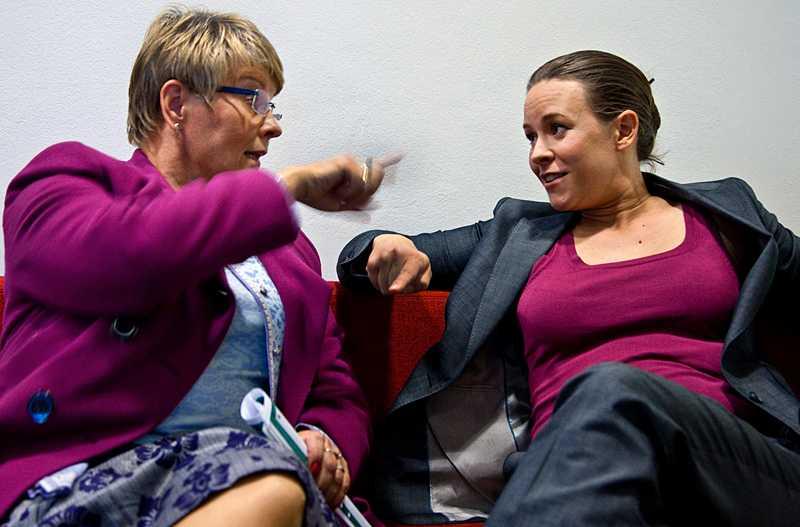 Efter debatten i SVT:s Agenda fastnade de båda partiledarna i en hätsk diskussion.