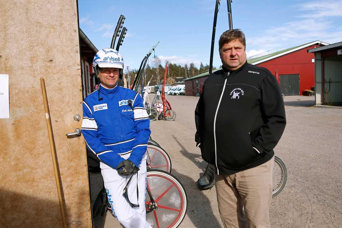 Erik Adielsson tillsammans med tränaren Svante Båth.