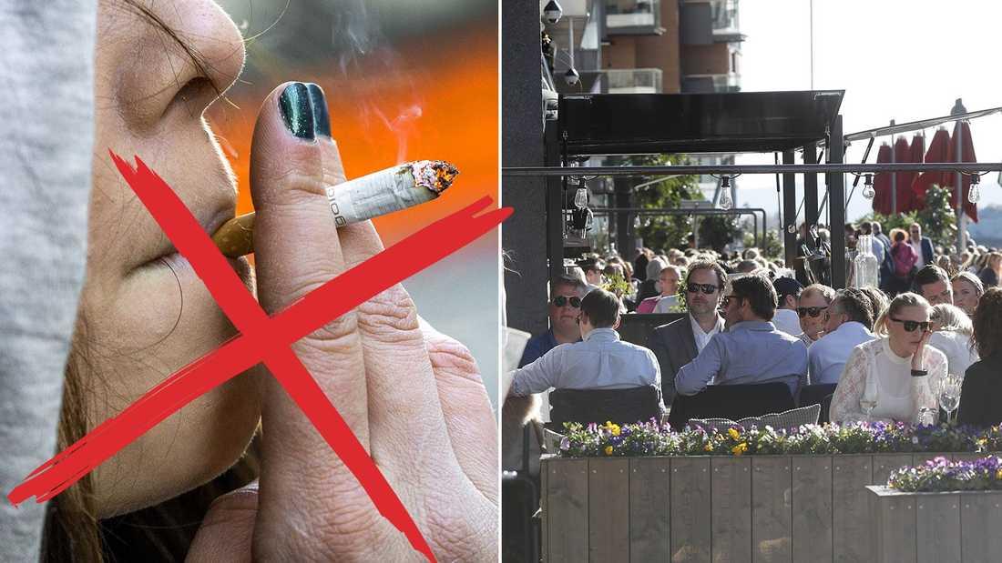 Nästa sommar blir det stopp för rökning på uteserveringar.