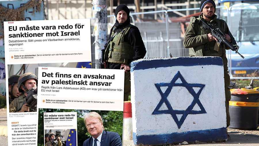 När Lars Adaktusson försvarar Israels övergrepp, inklusive en annektering av Västbanken, sällar han sig till dem i historien som svikit både demokrati och folkrätt. Slutreplik från nio debattörer.
