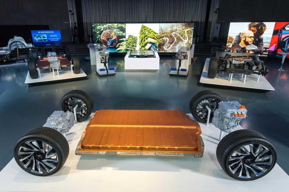 Den nya batterivarianten Ultium visades upp i Warren i Michigan.