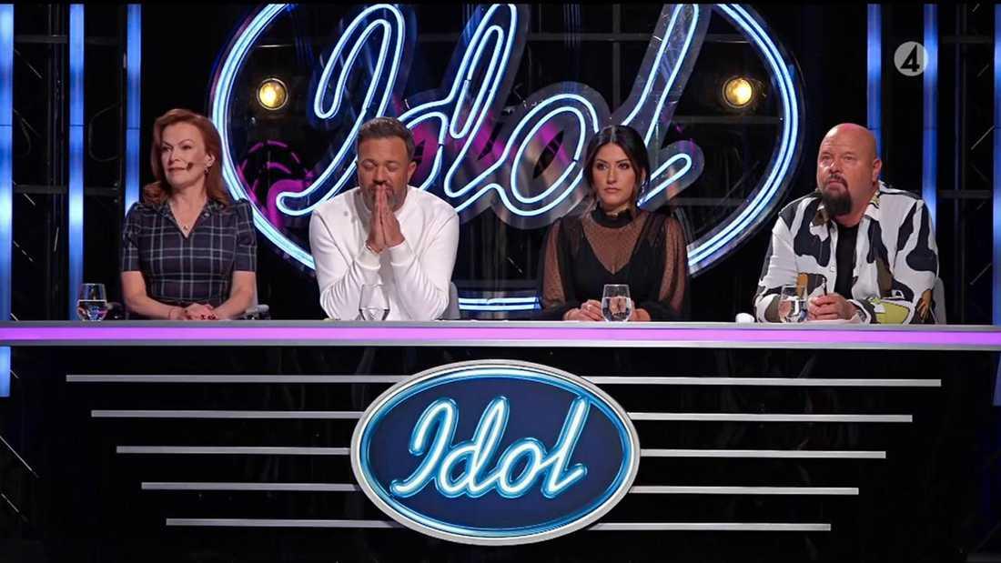 """""""Idol""""-juryn: Kishti Tomita, Alexander Kronlund, Nikki Amini och Anders Bagge."""