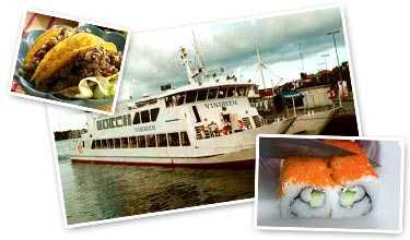 Ät god mat och se Stockholm via vattnet samtidigt.