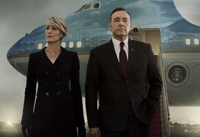 """Rollkaraktärerna Frank och Claire Underwood i """"House of cards"""""""