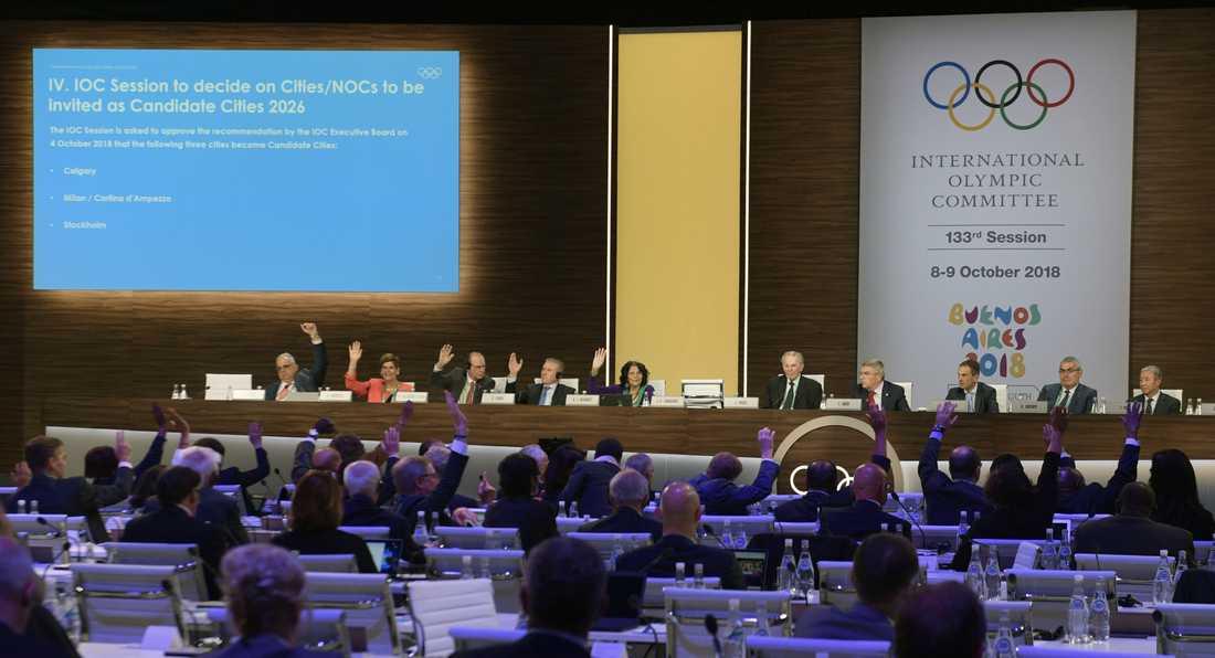 Från omröstningen i Buenos Aires – där IOK-ledamöterna röstade fram de tre återstående kandidatstäderna.