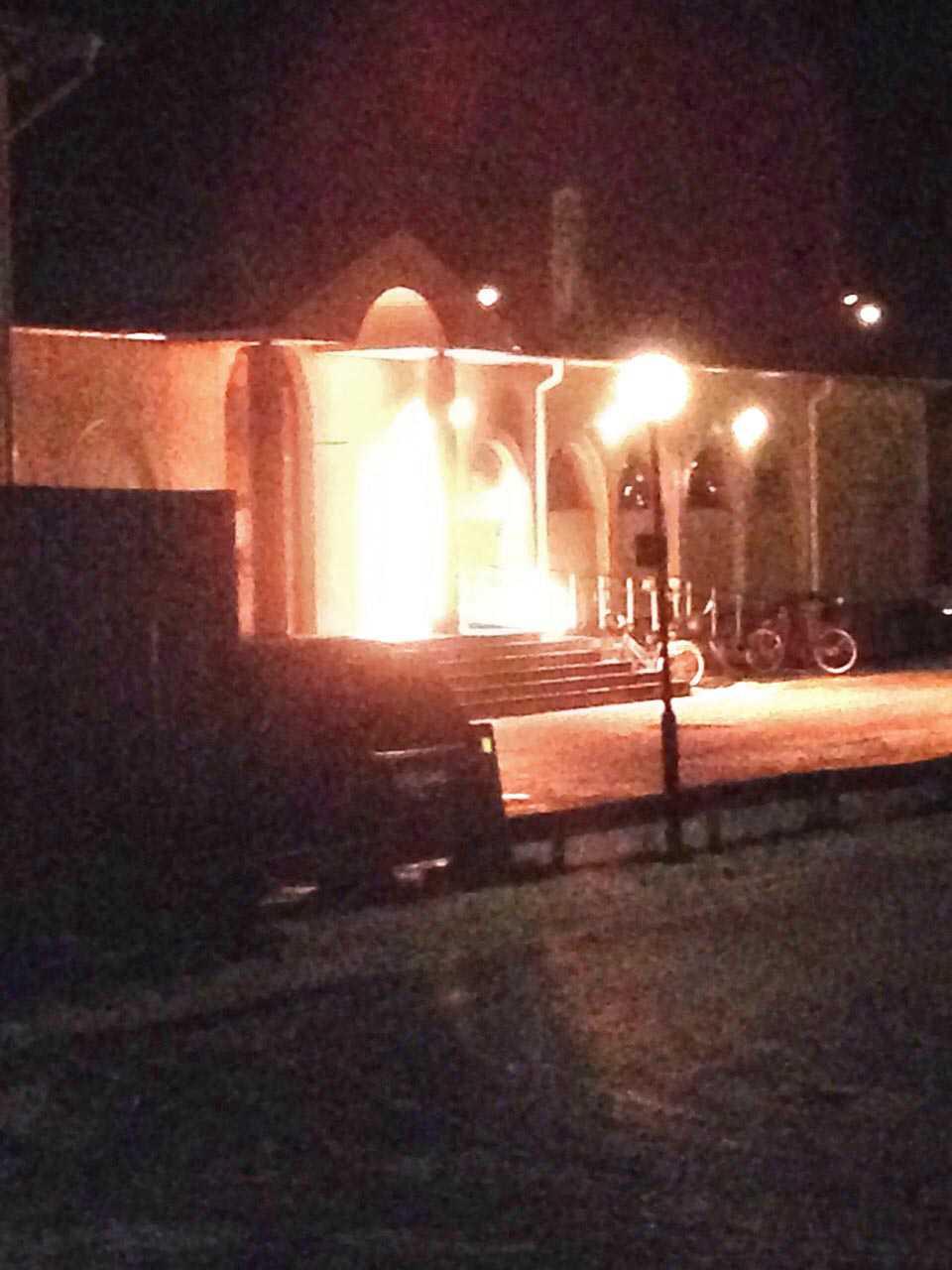 Moskén i Eslöv utsattes för attentat.