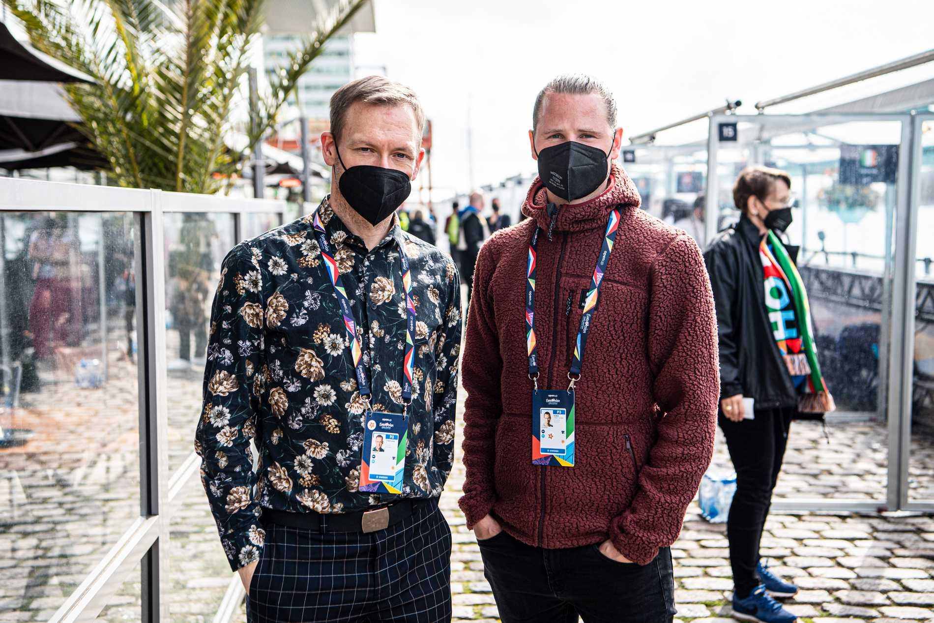 Aftonbladets reporter Torbjörn Ek och fotograf Robin Lorentz-Allard är på plats i Rotterdam för att bevaka Eurovision song contest.