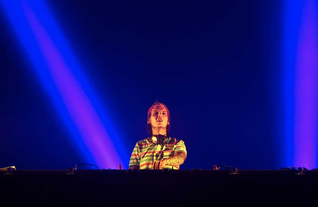 """Tim Bergling, """"Avicii"""", uppträder på Sziget music festival på ön Hajogyar i Budapest i augusti 2015."""