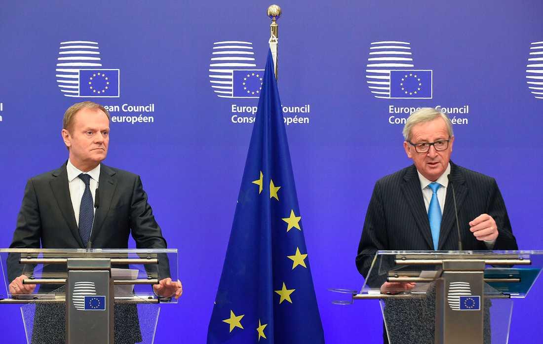 Donald Tusk och Jean Claude Juncker.