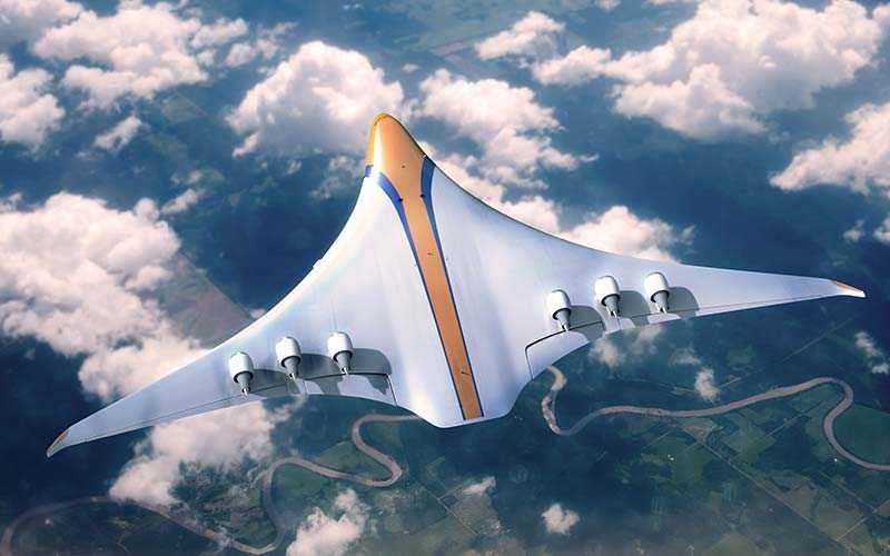 Framtidens flygplan skulle också vara betydligt bättre för miljon, och endast släppa ut en bråkdel av utsläppen som dagens flygplan släpper ut