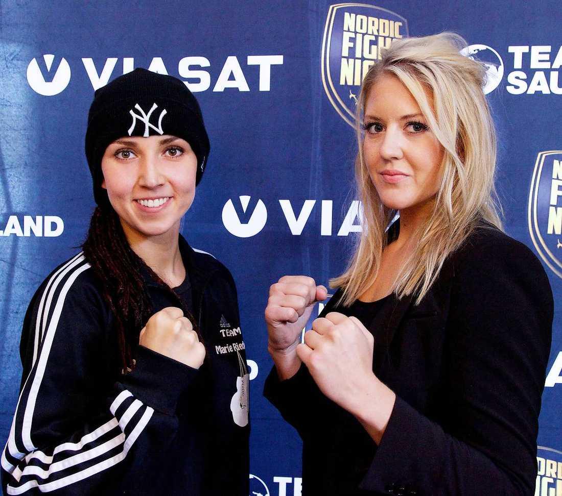 Marie Riederer och Klara Svensson gör upp.