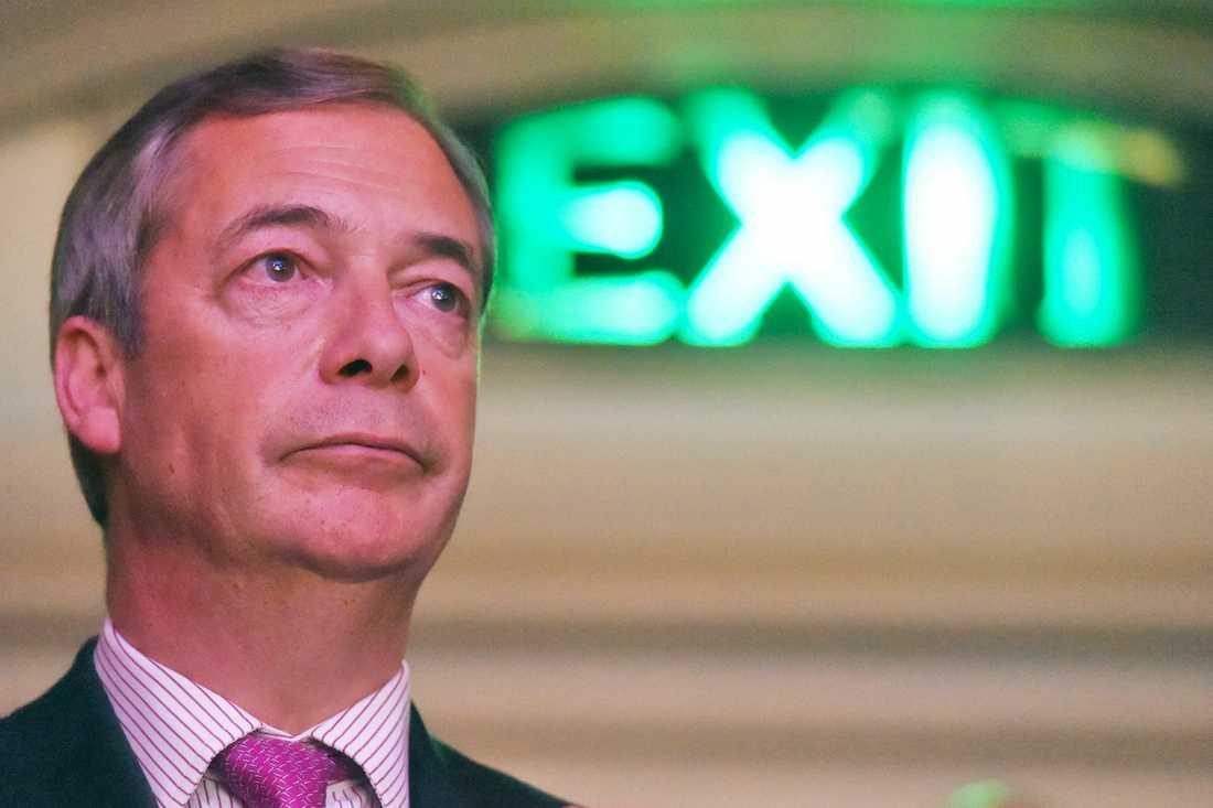 EU-parlamentsledamoten Nigel Farage, mångårig partiledare för EU-fientliga Ukip, har länge tillhört de mest brexitsugna i Storbritannien. Arkivfoto.