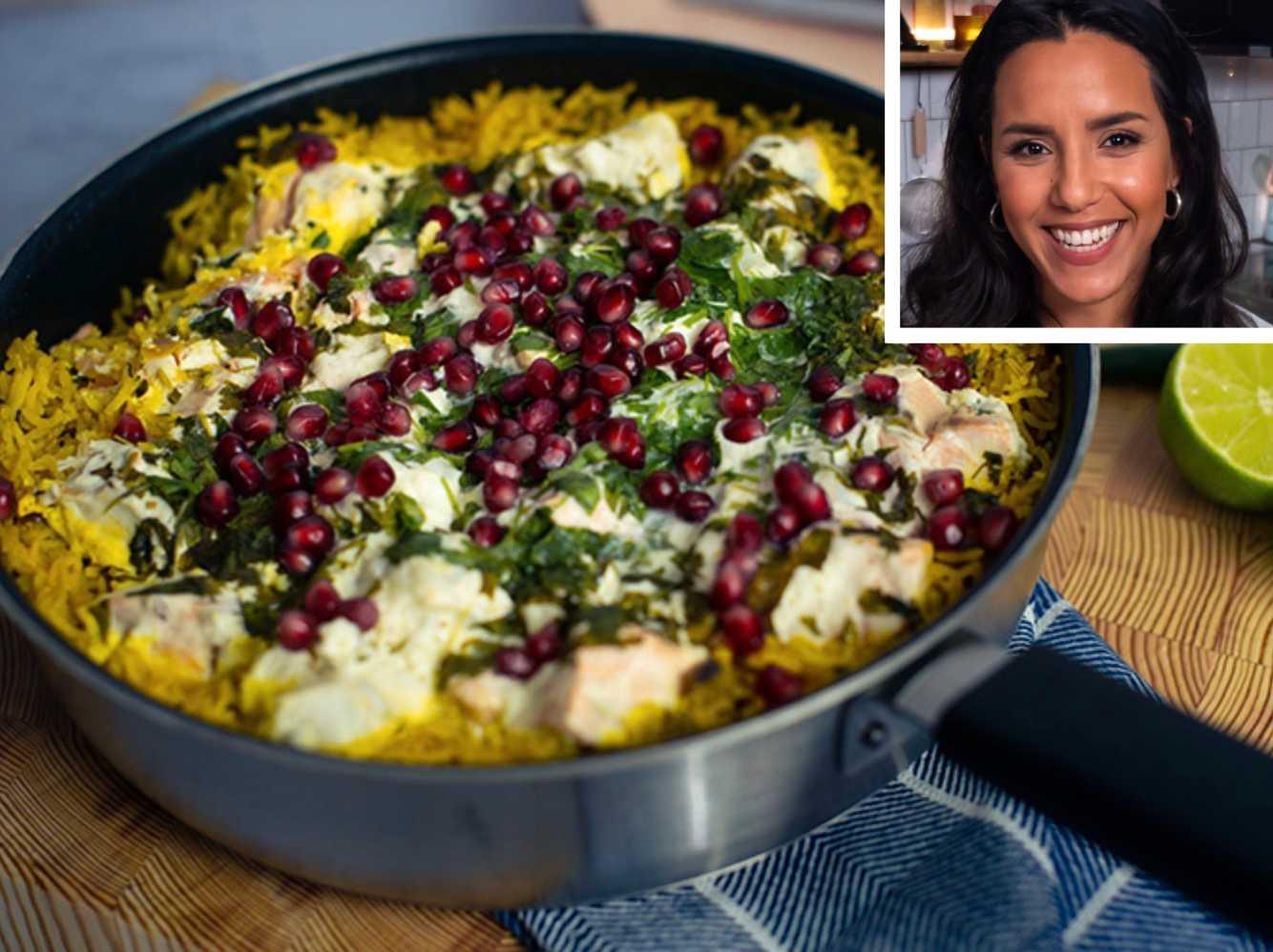 Markiz Taintons middagstips: Allt i en gryta: One pot rice med lax och torsk.