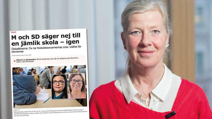Till skillnad från S nöjer vi oss inte med medelmåttiga kunskapsresultat. M höjer därför ambitionerna för svensk skola och säger nej till dålig skolpolitik, skriver Kristina Axén Olin.