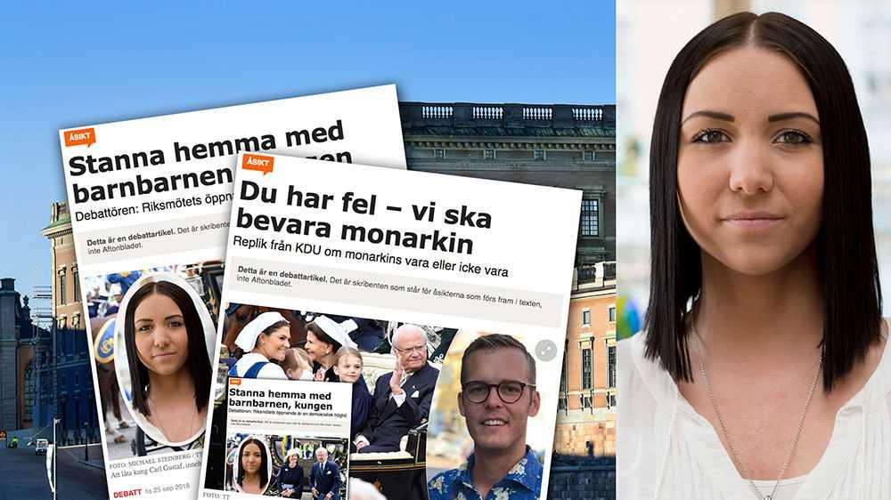 Att påstå att monarkin har tjänat och värnat det svenska folket, är ett uttryck för en nationalromantisk historierevisionism, skriver Yasmine Larsson, Ordförande Republikanska föreningen och riksdagsledamot (s).