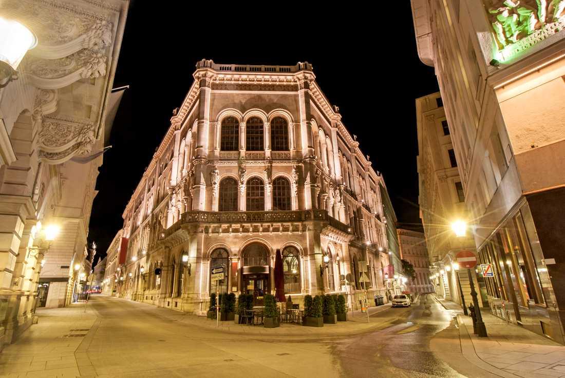 Bättre än så här blir det inte, enligt EIU – Palais Ferstel, med Café Central, i Wien.