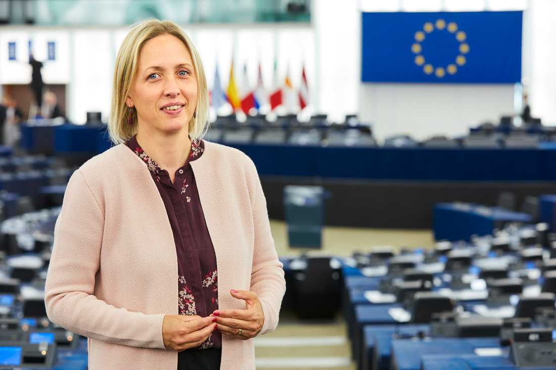 """Jytte Guteland (S) är en av fyra europaparlamentariker som medverkar i """"Bryssel calling"""", en tv-serie som ger tittaren fördjupade kunskaper om EU."""