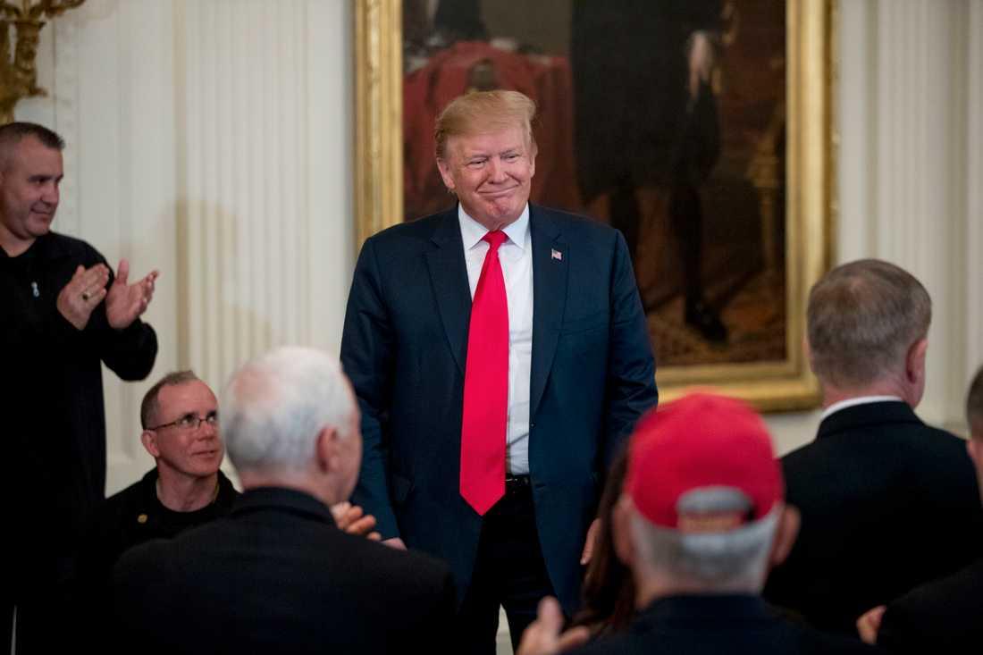 USA:s president Donald Trump under torsdagen.