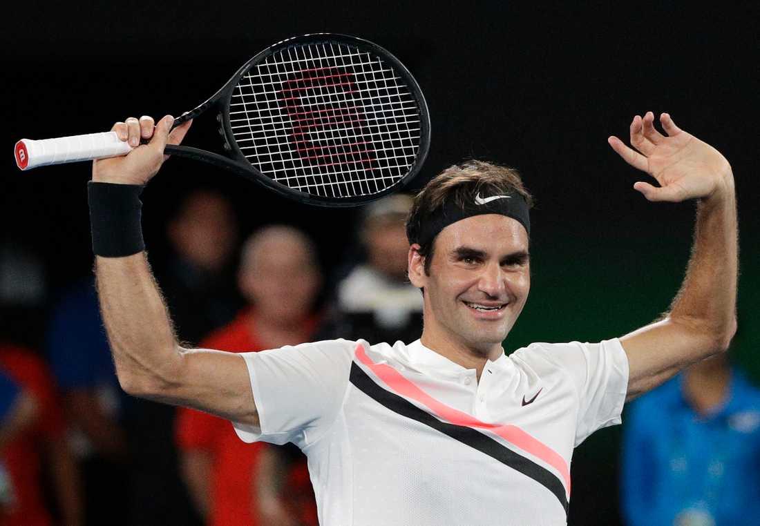 Roger Federer spelar Australian Open 2019.
