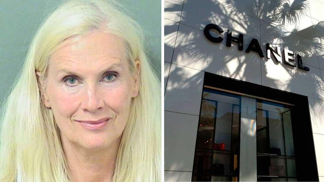 Gunilla greps efter hon besökt en Chanel-butik