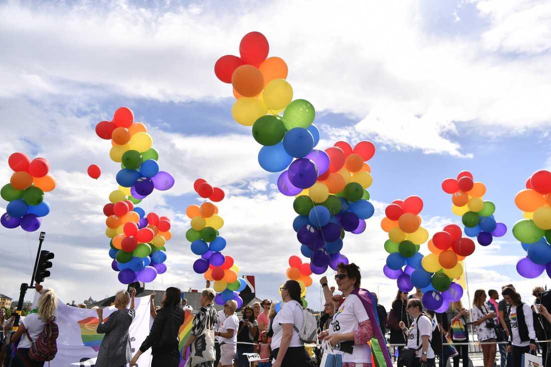 Prideparaden i STockholm 2017.